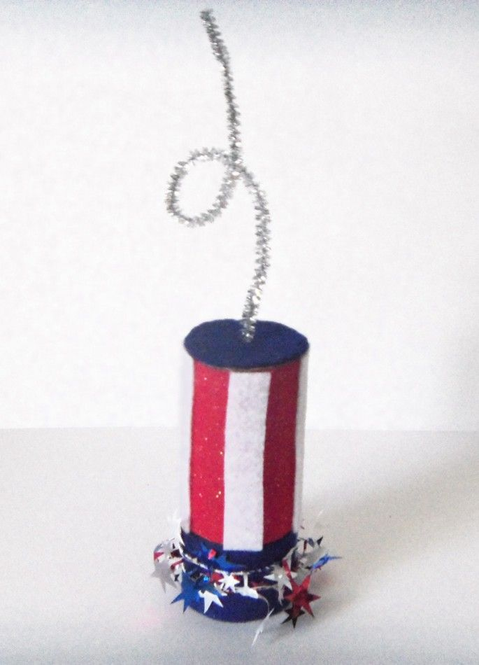Diy 4th of july children 39 s craft firecracker toilet for Toilet paper roll crafts for adults