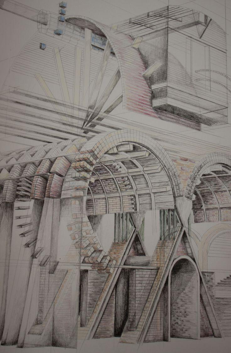 London Brickworks Project - Brickmakers lodge sketch perspective