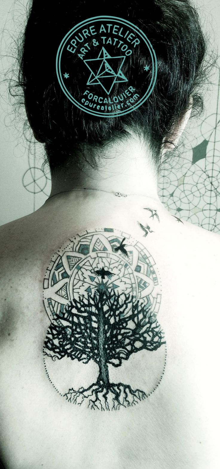 tree of life vesica piscis tattoo epure atelier. Black Bedroom Furniture Sets. Home Design Ideas