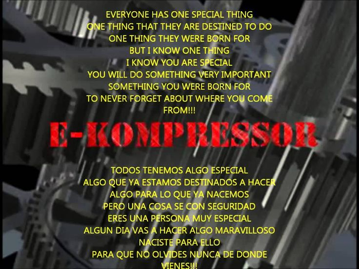 DJ E-KOMPRESSOR : BELIEVE IN YOURSELF/CREE EN TI MISMO KLUB MIX