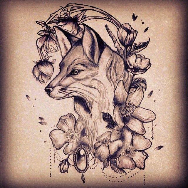 Fox by @milky_tattoodles on instagram