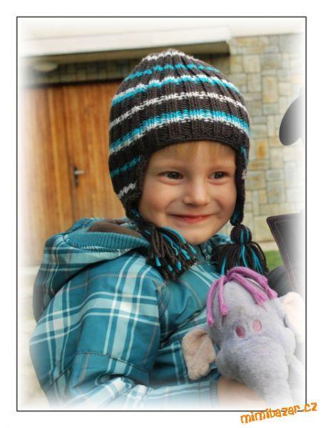 Pletená dětská ušanka nejen pro KLUKY