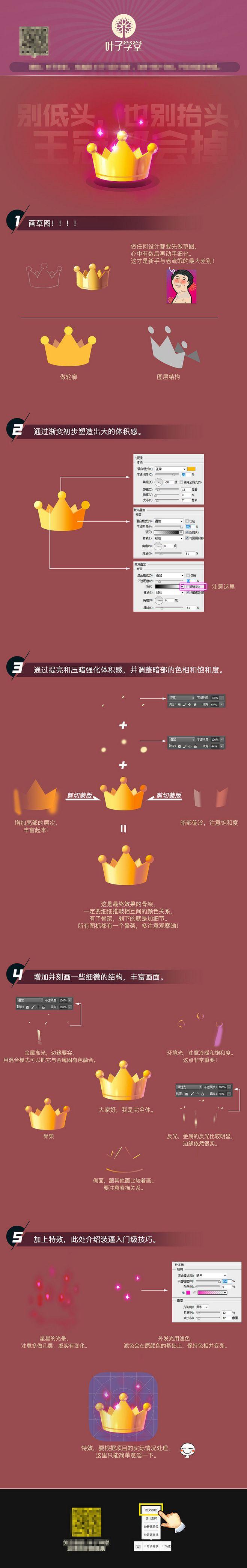 原创作品:【叶子学堂游戏UI设计】皇冠 ...