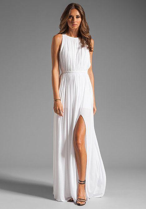 Vestido de novia civil sencillo largo