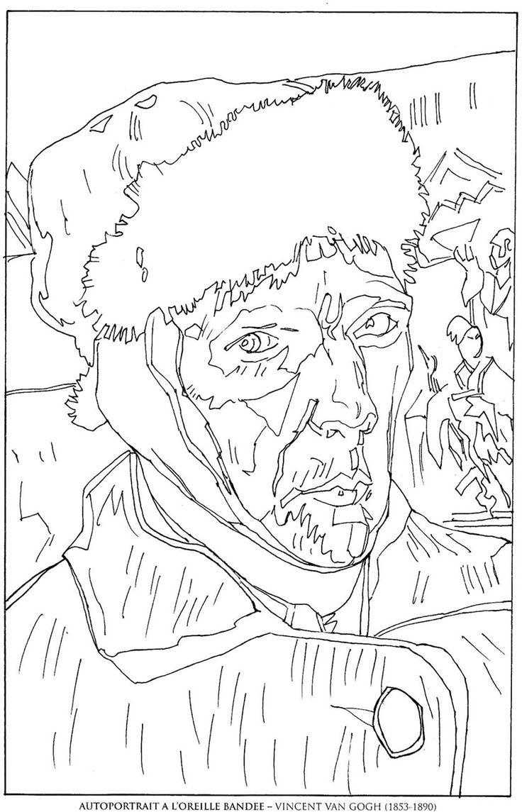 coloring pages van gough - photo#22
