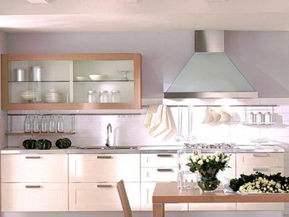 Simple Design Wood Veneer Kitchen Cabinet For Sale