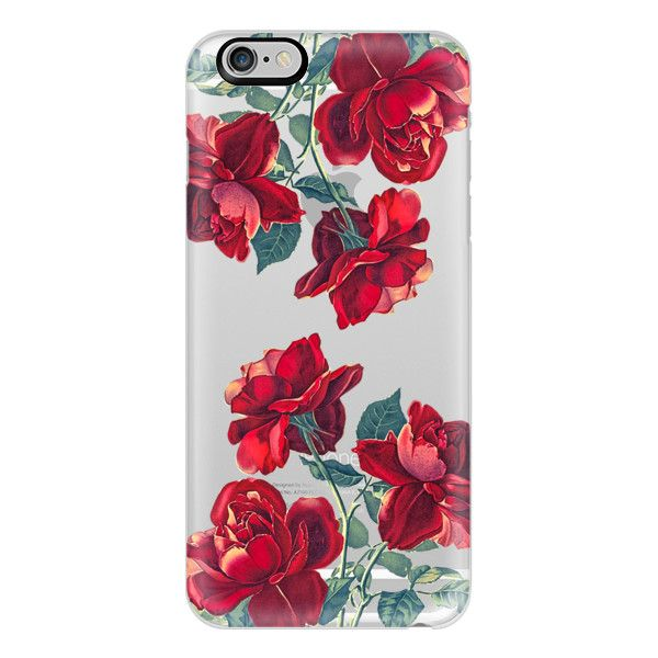Red Roses (Transparent) - iPhone 6s Case,iPhone 6 Case,iPhone 6s Plus... (125 BRL) ❤ liked on Polyvore featuring accessories, tech accessories, phone cases, phones, cases, electronics, iphone cases, transparent iphone case, slim iphone case and clear iphone case