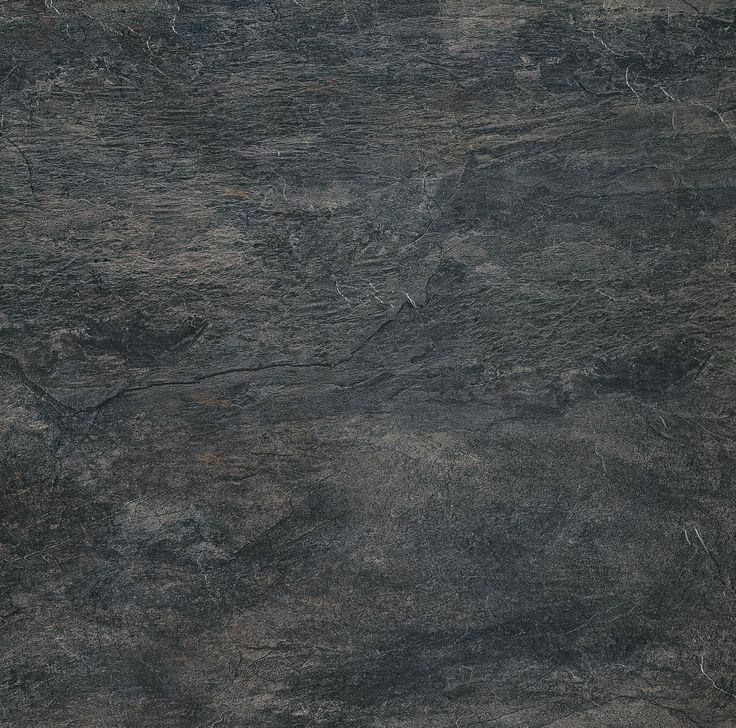 REX carrelage Ardoise en noir, au show-room David B à Paris Salle