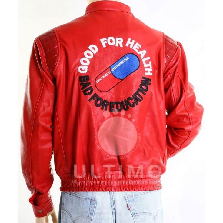 Vintage Akira Capsule Biker Red Leather Jacket