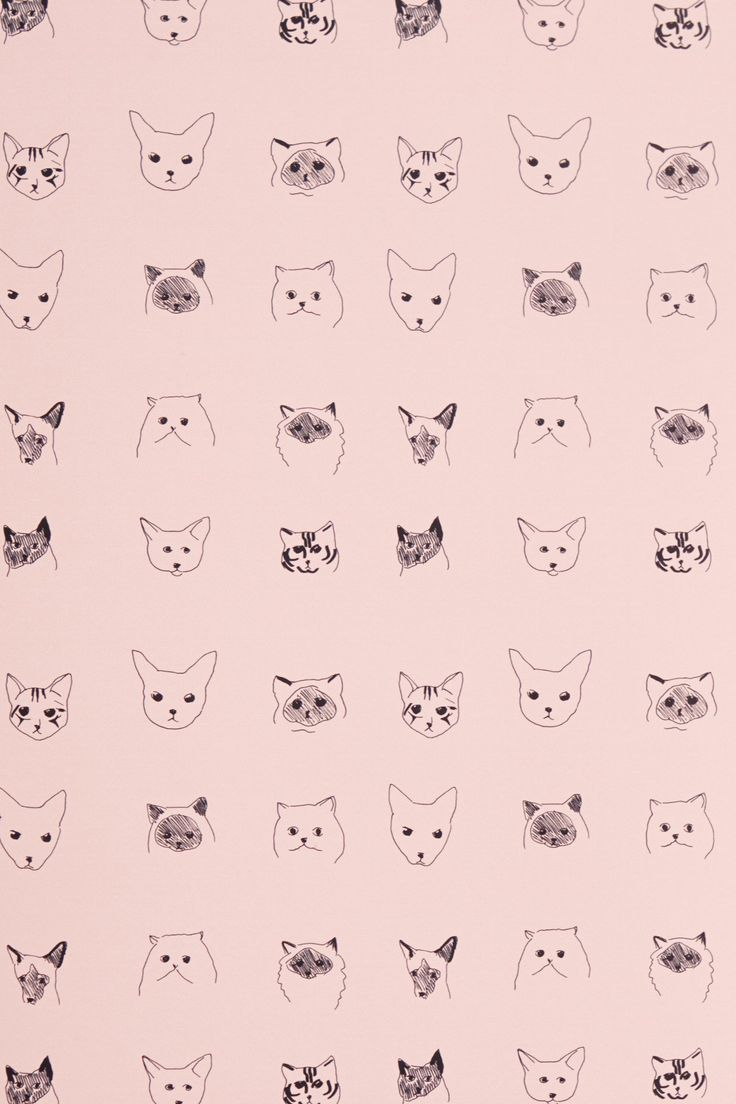 Cats pattern wall paper pinterest pets for Anthropologie wallpaper