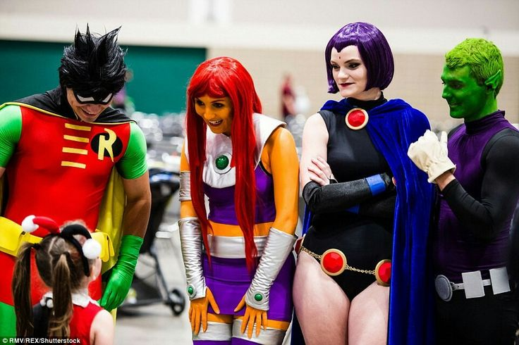 The Teen Titans meeting Harley Quinn! I doubt she'll hurt them, haha.