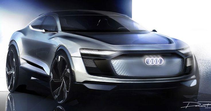 Audi Previews Shanghai-Bound E-Tron Sportback Crossover Concept #Audi #Audi_Concepts