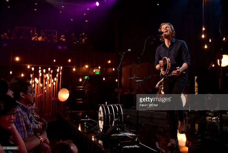 Musician Wesley Schultz of The Lumineers performs on the AT&T LIVE stage at the iHeartRadio Theater Los Angeles on March 3, 2016 in Burbank, California.
