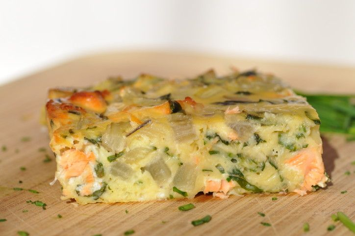 Quiche sans pâte saumon bettes