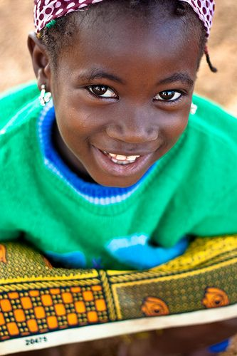 Stunning young girl in Sierra Leone