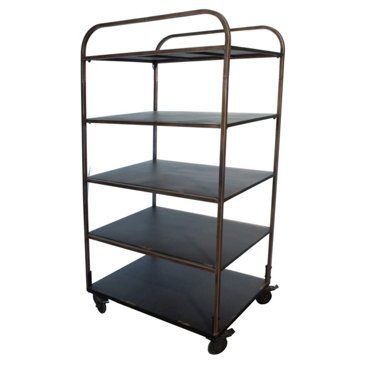 Check out this item at One Kings Lane! 5-Shelf Industrial Rolling Cart