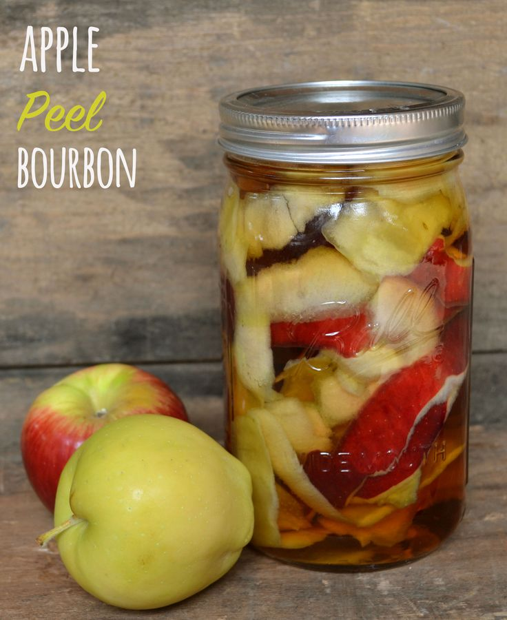 33 best images about infused bourbon on pinterest bacon banana foster and pecans - Practical uses for the apple peels ...