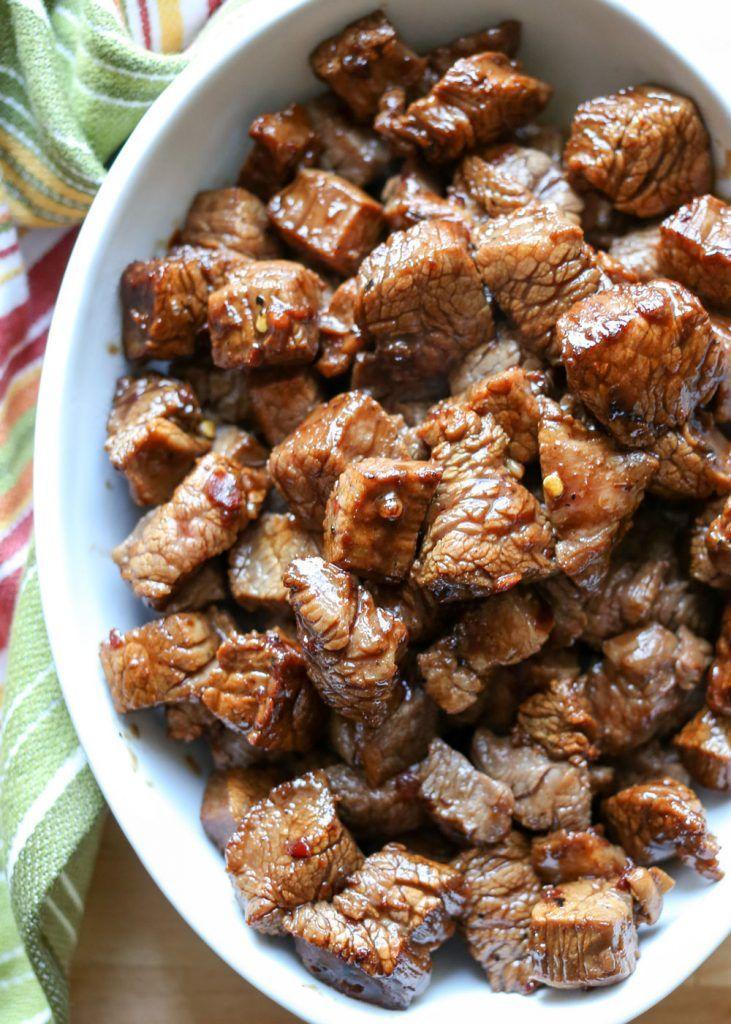 Asian Steak Bites - recipe by Barefeet In The Kitchen