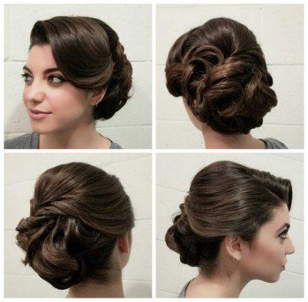 Hair prom updo medium vintage hairstyles 51 trendy Ideas #hair #hairstyles