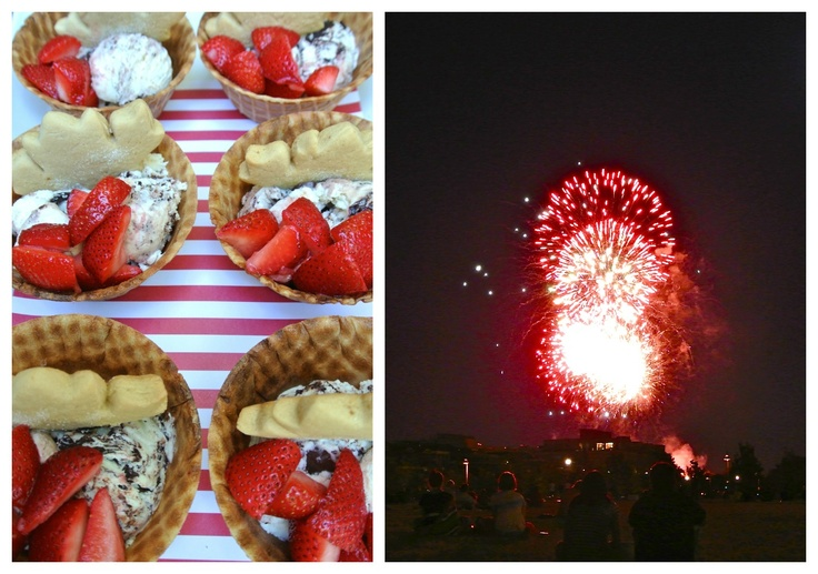 Chic Canadiana - Canada Day party, ice cream and fireworks