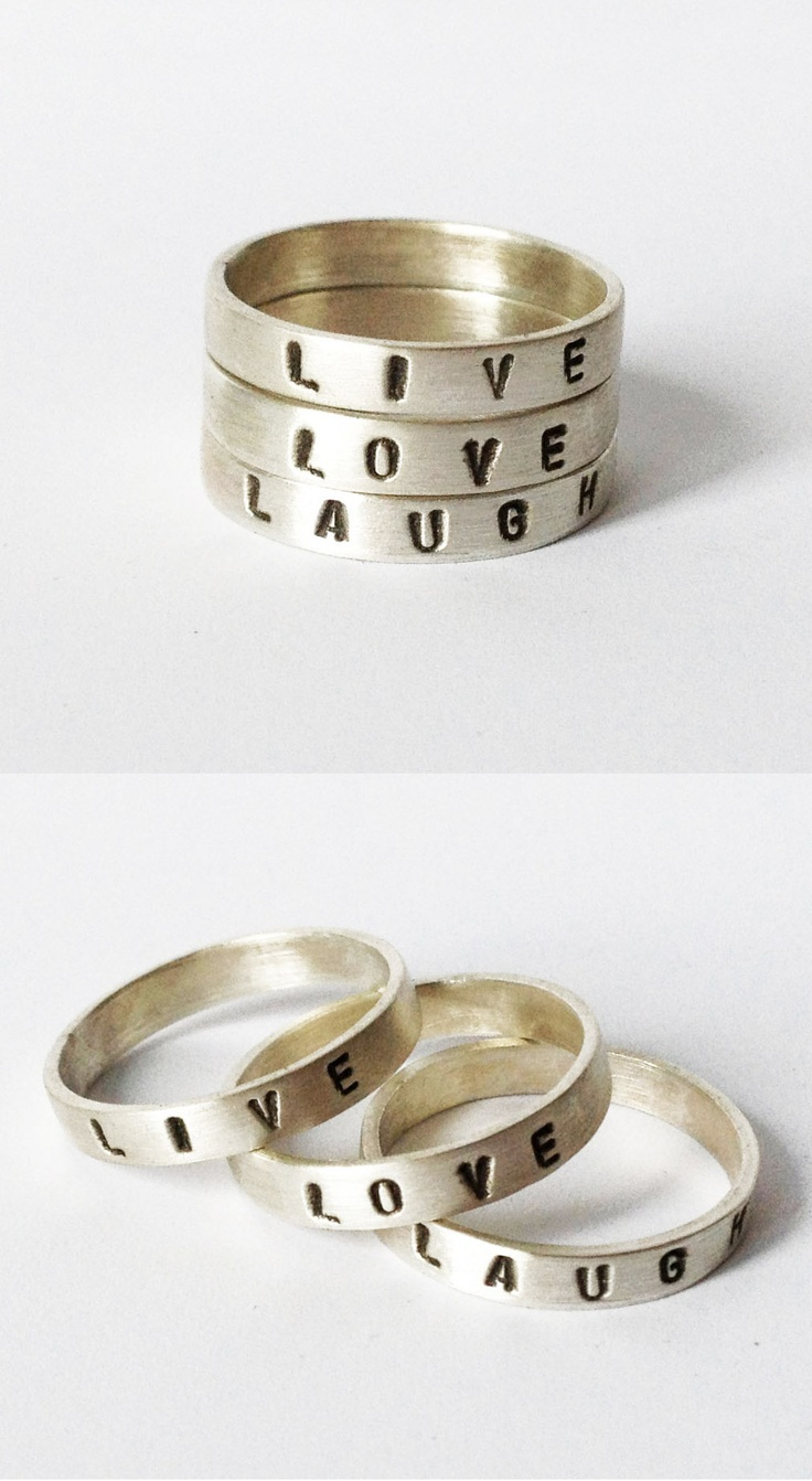 Live Love Laugh - stacking rings