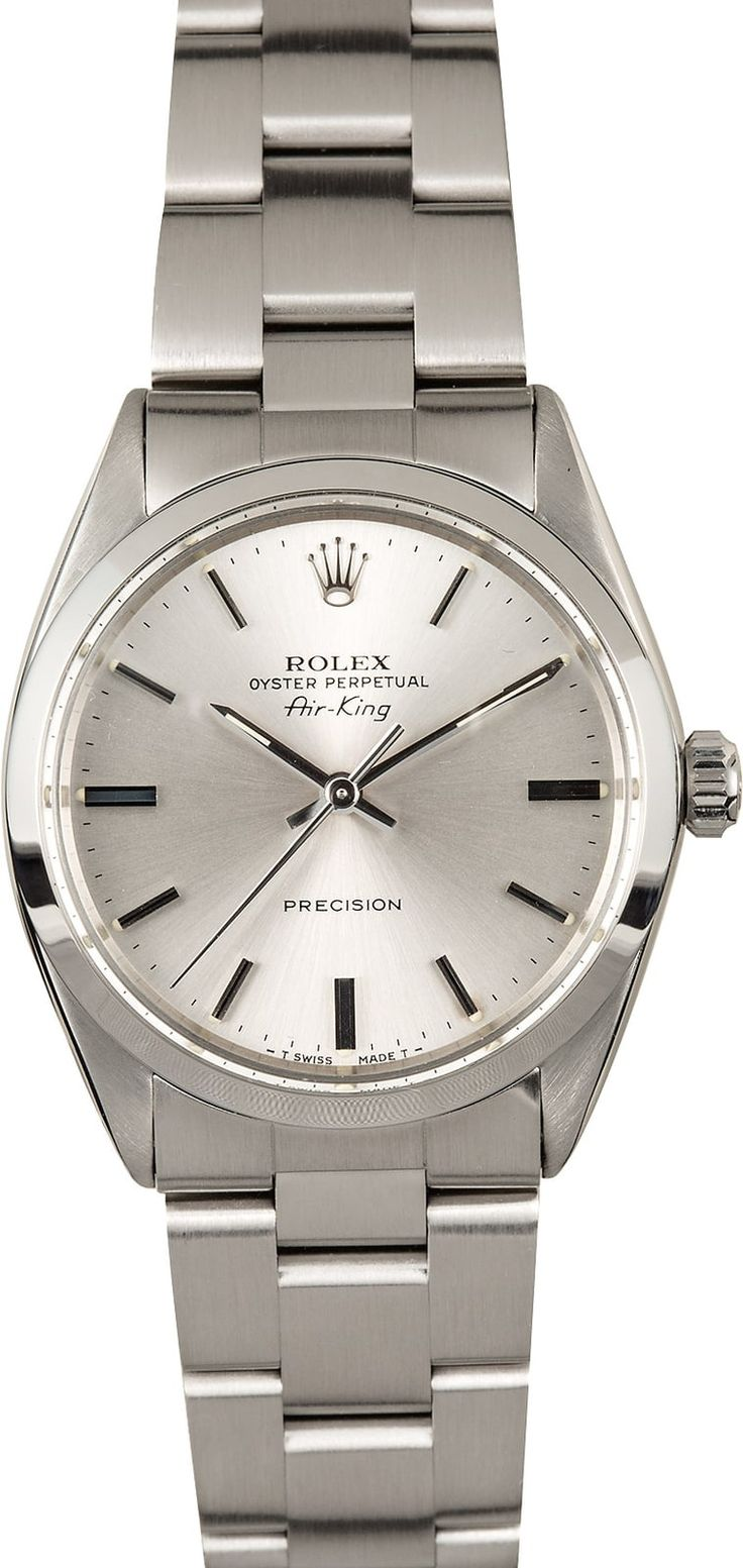 Rolex Air King 5500 Stainless Steel 100% Authentic