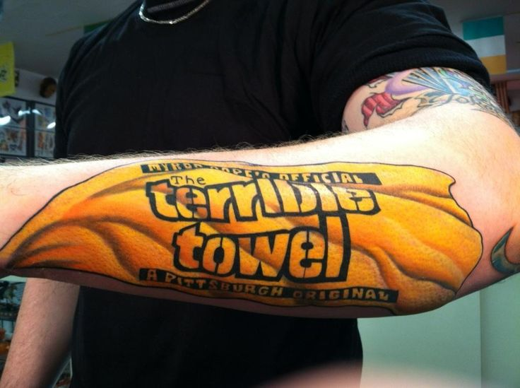 Pittsburgh Steelers - Terrible Towel tattoo
