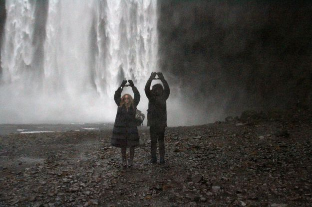 Some lucky waterfall was paid a visit. | Beyoncé And Jay Z Graced Iceland With Their Presence For Jay Z's Birthday