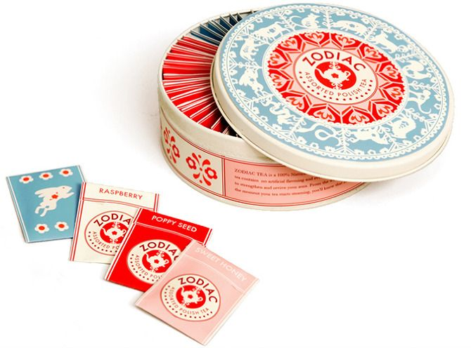Zodiac Tea - The design combines the Chinese zodiac wheel with traditional Polish paper-cuts