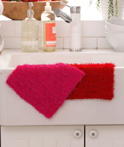 Simple Crochet Dishcloth Free Crochet Pattern in Red Heart Yarns