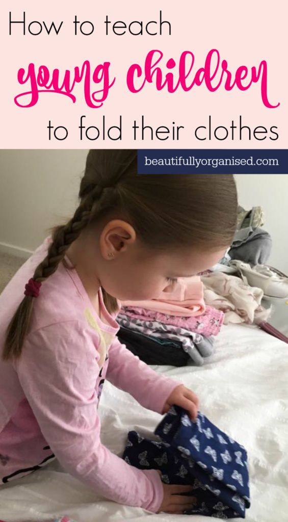Kids folding their own clothes = one less job for Mum! Love how simple this technique is :)