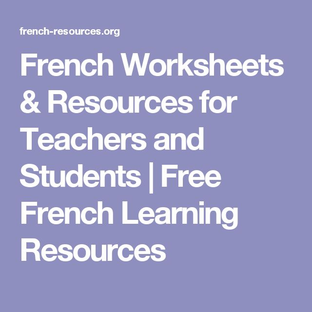 French Worksheets & Resources for Teachers and Students | Free French Learning Resources