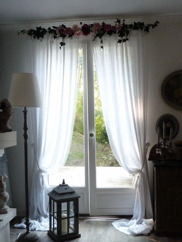 d coration rideaux guirlandine roses guirlande de roses. Black Bedroom Furniture Sets. Home Design Ideas
