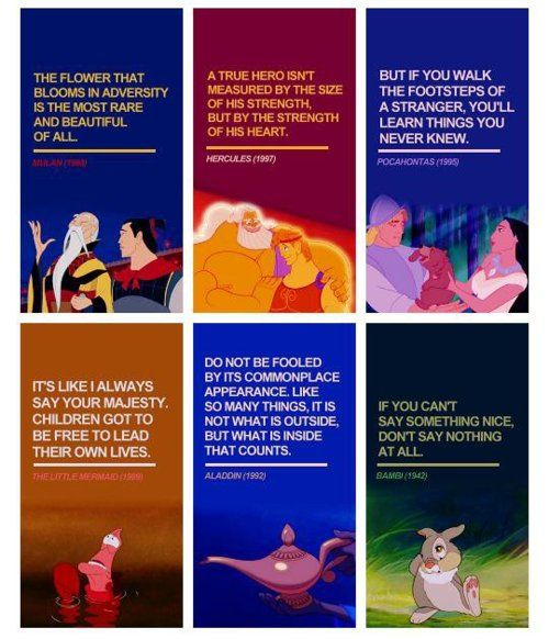 Disney did have good life lessons before they destroyed old Disney!