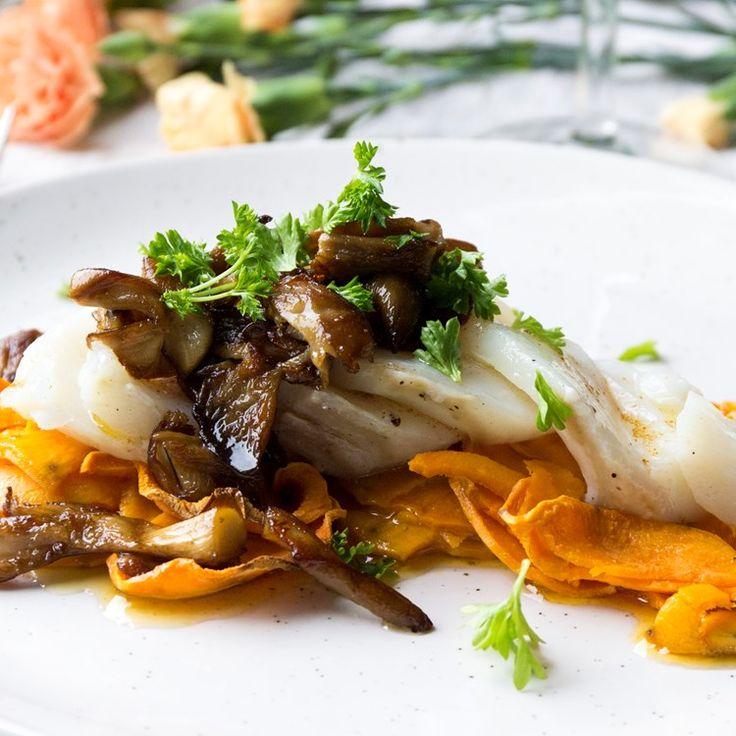 Enkel lyxmiddag på bara 4 ingredienser! Torskfilé med sötpotatis, ostronskivling och brynt smör