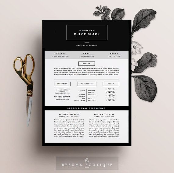 resume template 5 page pack