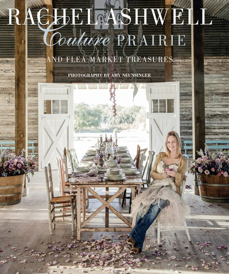 This would make a great book for any shabby chic coffee table. Hardcover book featuring Rachel's journey in buying and stylizing her prairie home in Round Top Texas. One of our favorites!