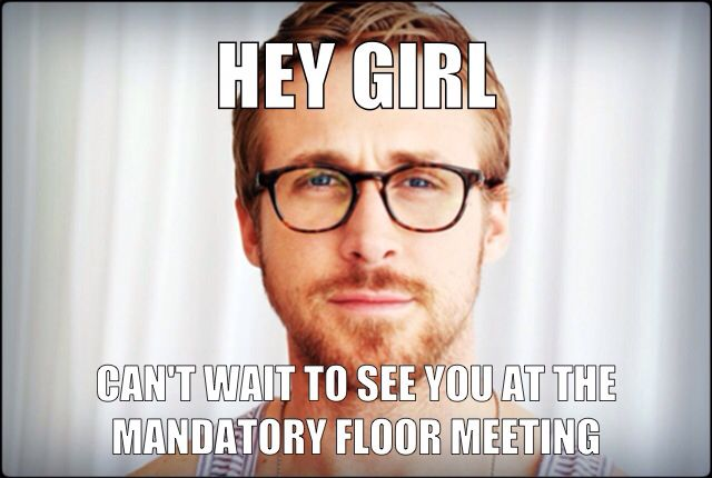 Mandatory Floor meeting flyer