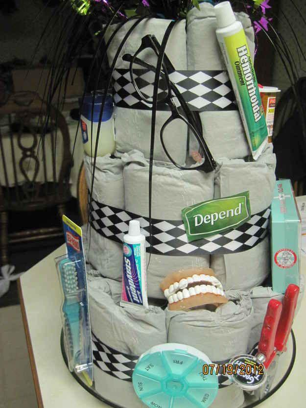 Make them an adult diaper cake.