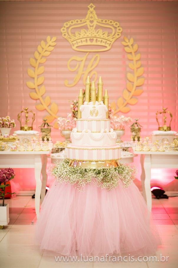 158 melhores imagens sobre FESTA PRINCESA REALEZA no Pinterest Mesas, Princesa rosa e Bolo  # Decoração De Festa Infantil Realeza Luxo