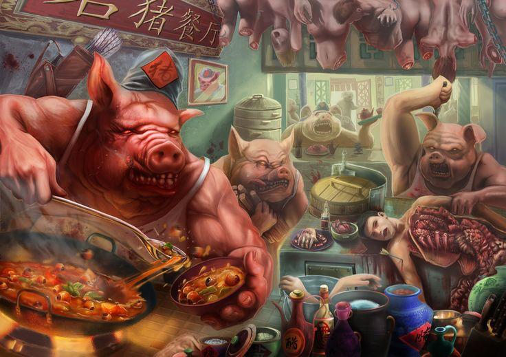 Pig Restaurant by MarsFoong on deviantART