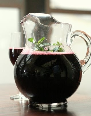 Bissap/Bisap, a sour-tasting drink from Burkina Faso, made from Roselle (Bissap) flowers, and sweetened with sugar
