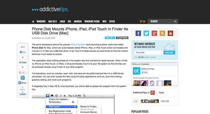 Mount iPhone And iPad In Finder As Local USB Disk Drive [Mac]