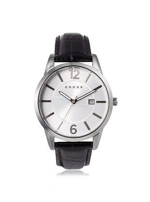 52% OFF Cross Men's CR8002-02 Gotham Round Black/White Stainless Steel Watch