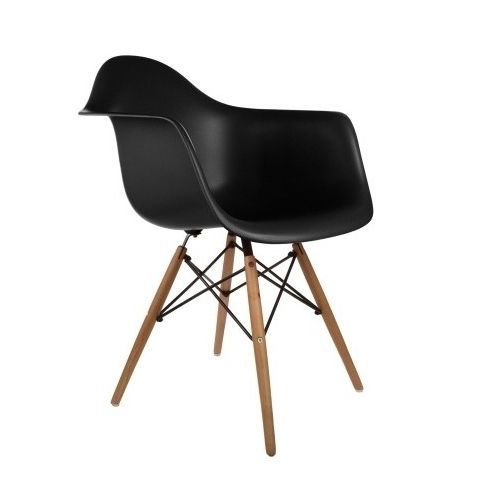Retro Eames Style Wood Accent Chair with Arms   Overstock.com Shopping - The Best Deals on Dining Chairs