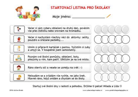 Startovací listina v AKCI - Abeceda PrvňákaAbeceda Prvňáka