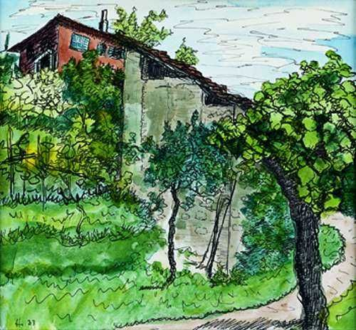 Hermann Hesse - Casa Bodmer Montagnola, 1933..♔...