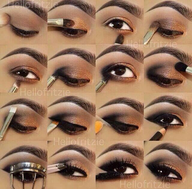 Step By Step Eye Shadow Tutorial Beauty Pinterest