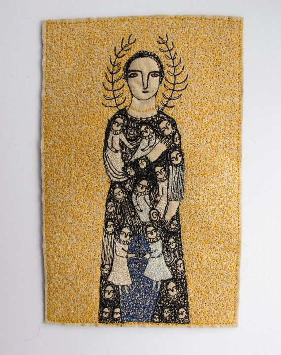 Guardian of Dreamers an original embroidery by cathycullis, £145.00