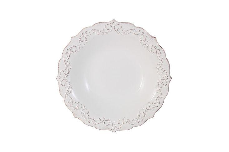 Тарелка суповая «Винтаж» (белый)      Бренд: IMARI (Китай);   Страна производства: Китай;   Материал: керамика;   Диаметр: 23 см;          #керамика #сервировка #стола #ceramics #table #setting #тарелка